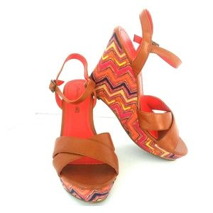 American Eagle Platform Sandals Multi-color Sz 9